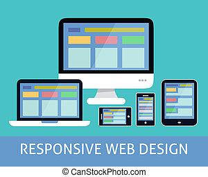 Responsive web design concept - Responsive websites design...