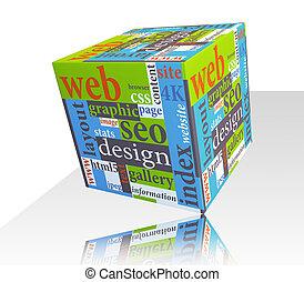 Responsive Web Design - Cube as web design concept