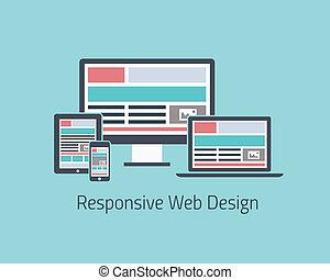 Responsive web design development v - Flat icon responsive...