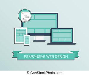 Responsive web design flat styled i
