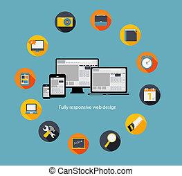 Responsive web design icon. Vector Illustration
