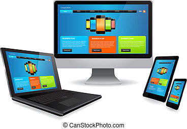 Responsive web design - Responsive website template on...
