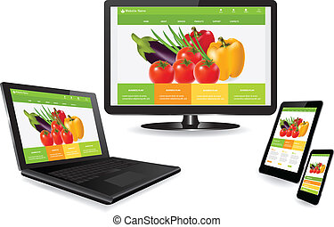 Responsive web design - Responsive website template on...