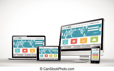 Responsive web design template - This image was made by ...