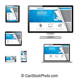 Responsive web design vector concep