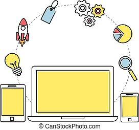 Responsive web development concept