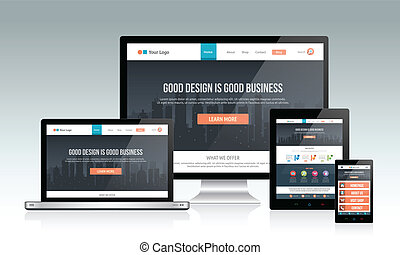 Responsive Website Design - Modern responsive website design...