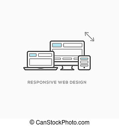 responsivo, projeto teia, ilustração