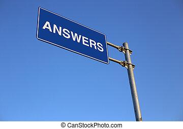 respostas, sinal estrada