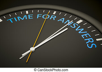 respostas, tempo