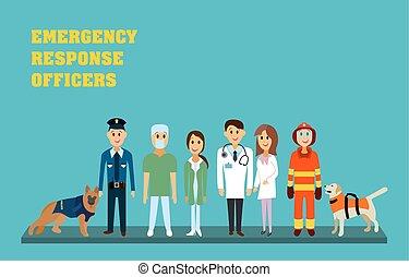 respuesta emergencia, oficiales