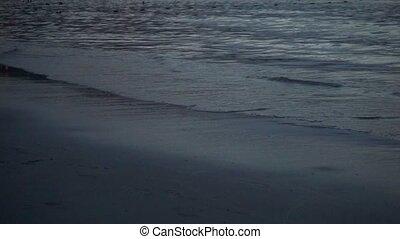 ressac, lent, soir, mouvement, vidéo, plage