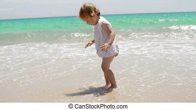 ressac, peu, adorable, jouer, girl