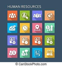 ressource, business, humain, icône