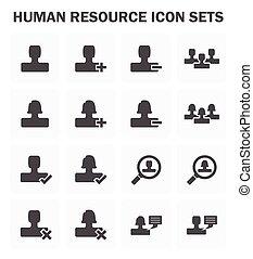 ressource, humain, icône