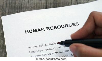 ressources, humain, entourer
