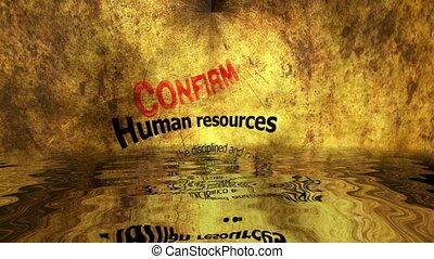 ressources humaines, reflété, confirmer, eau