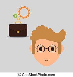 ressources, icon., illustration, isolé, emploi, humain, design.