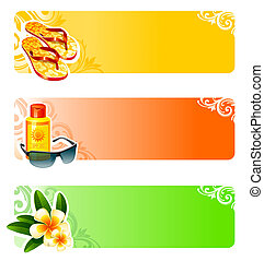 Rest and travel vector banners