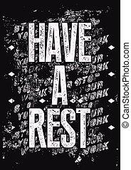 rest., grun, typographique, avoir, retro