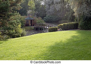 Rest house with nature background
