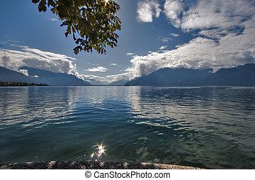 Rest -  Lake Leman in fine autumn day
