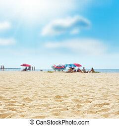 rest on the sand beach. summer photo near sea