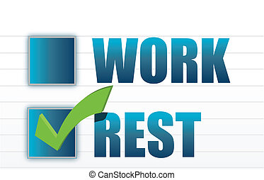 rest over work check mark selection illustration