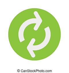 Restart or refresh icon vector illustration. Sign, symbol, ...