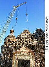 restaurálás, öreg templom