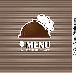 restaurace, a, bar, menu, list.