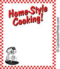 restaurace, host, konstrukce, hraničit