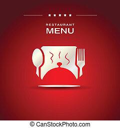 restaurace menu, deska, design