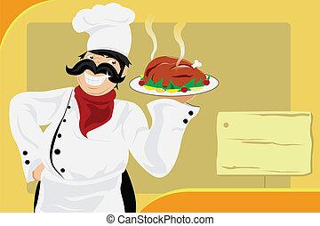 restaurace, vrchní kuchař