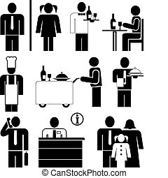 restauracja, ikony