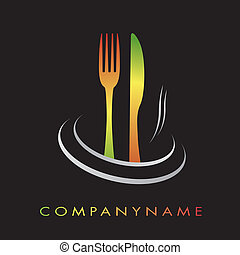 restauracja, kuchnia, logotype