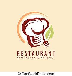 restauracja, projektować, idea, logo