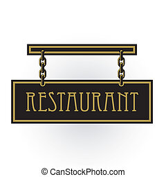 restauracja, znak
