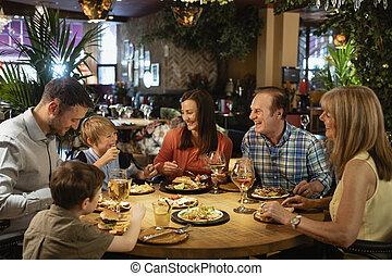 restaurang, ett slags tvåsittssoffa, äta