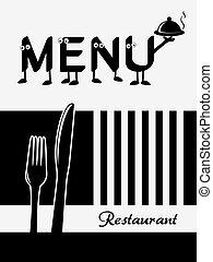 restaurang meny, -, design, mall, broschyr