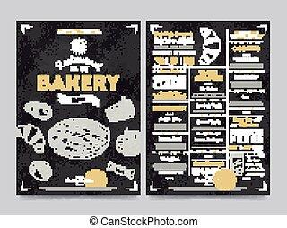 restaurang meny, vektor, mall, cafe, design