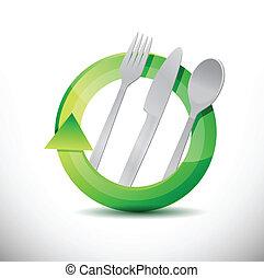 restaurant 360 design concept illustration design