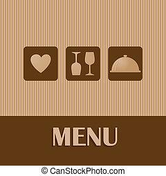 Restaurant and bar menu list.
