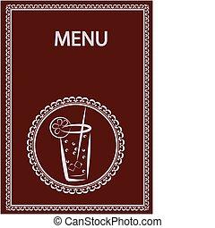 restaurant and juice bar menu design