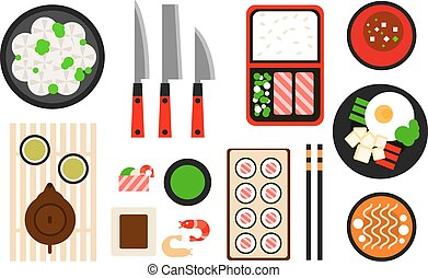 Restaurant asian cuisine Vector flat icon - Restaurant asian...