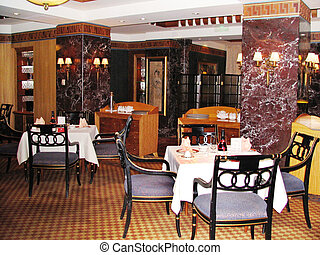 Restaurant at a nice hotel