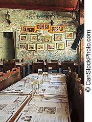 restaurant-bar, del, bodeguita, medio., la