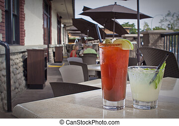 Restaurant Beverages on Patio