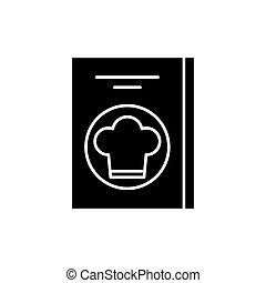 Restaurant bill black icon, vector sign on isolated background. Restaurant bill concept symbol, illustration