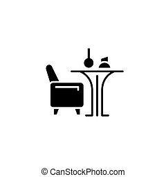 Restaurant black icon concept. Restaurant flat  vector symbol, sign, illustration.